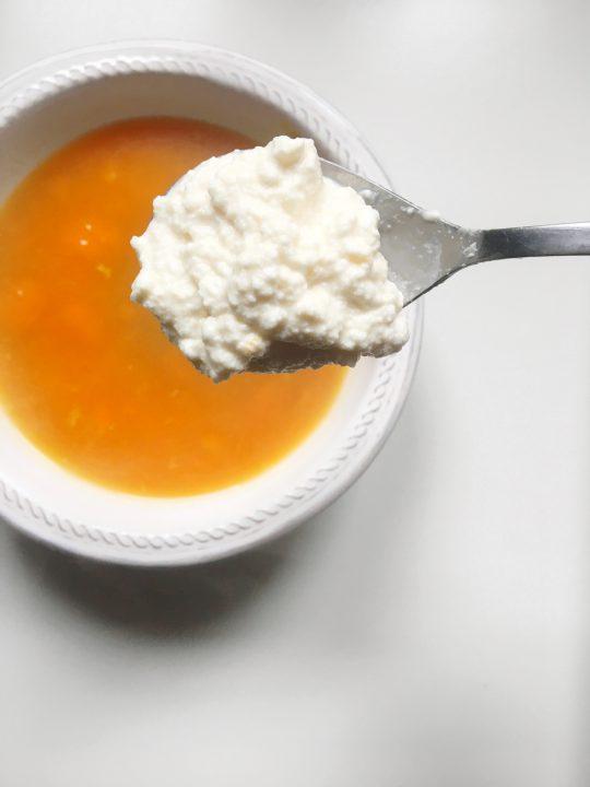 minestra zucca ricotta