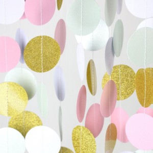 Glitter-Gold-Mint-Pink-White-Paper-Circle-Garland-Party-Decor-Photo-Booth-Backdrop-Garland-Birthday-Bridal
